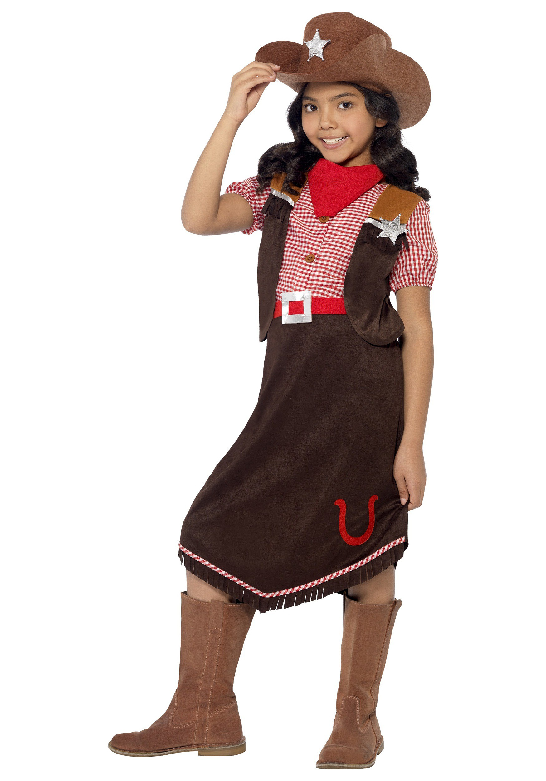 Child's Deluxe Cowgirl Costume