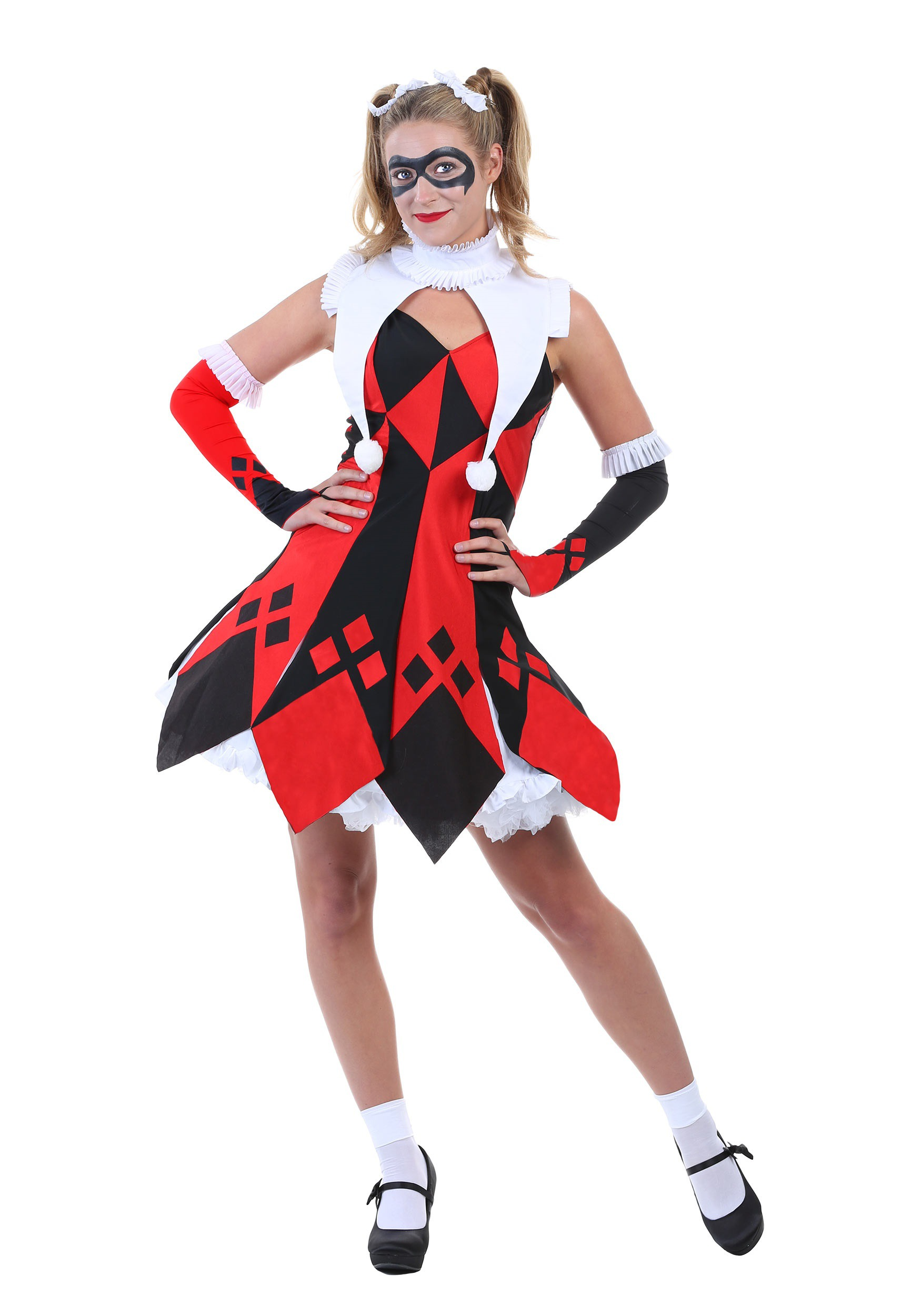 Cute Court Jester Plus Size Women's Costume