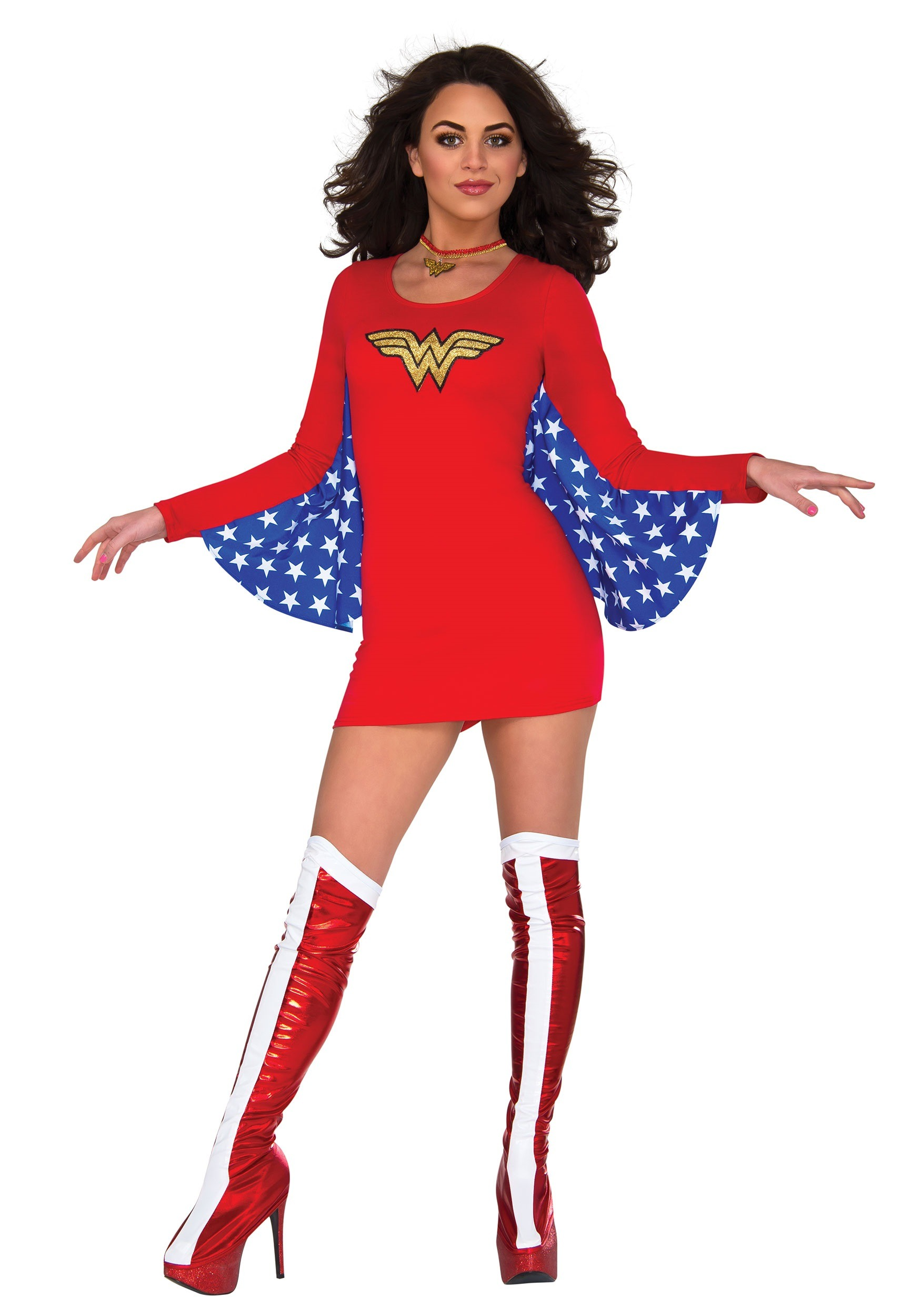 DC Women's Wonder Woman Cape Dress