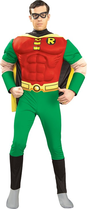 Deluxe Adult Robin Costume with Muscle Chest