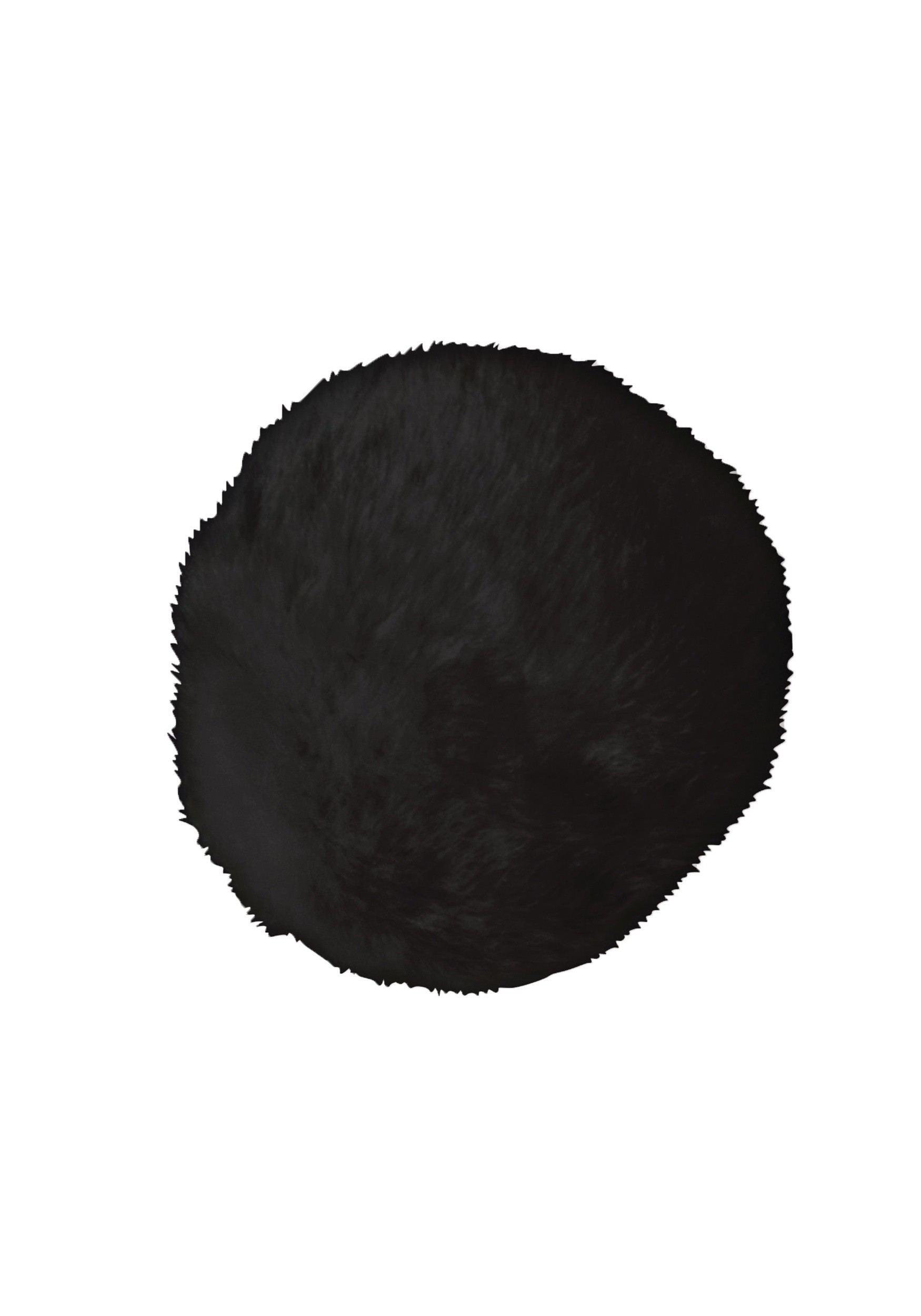 Deluxe Black Faux Fur Bunny Tail