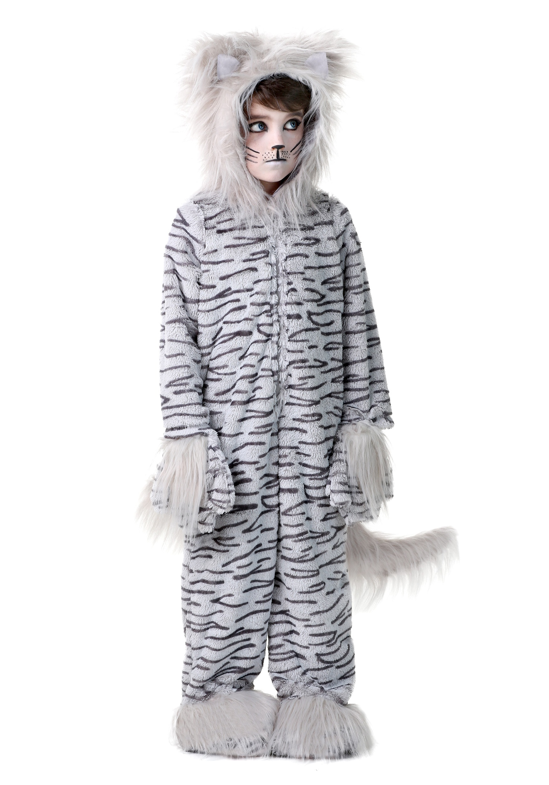 Deluxe Gray Cat Kids Costume