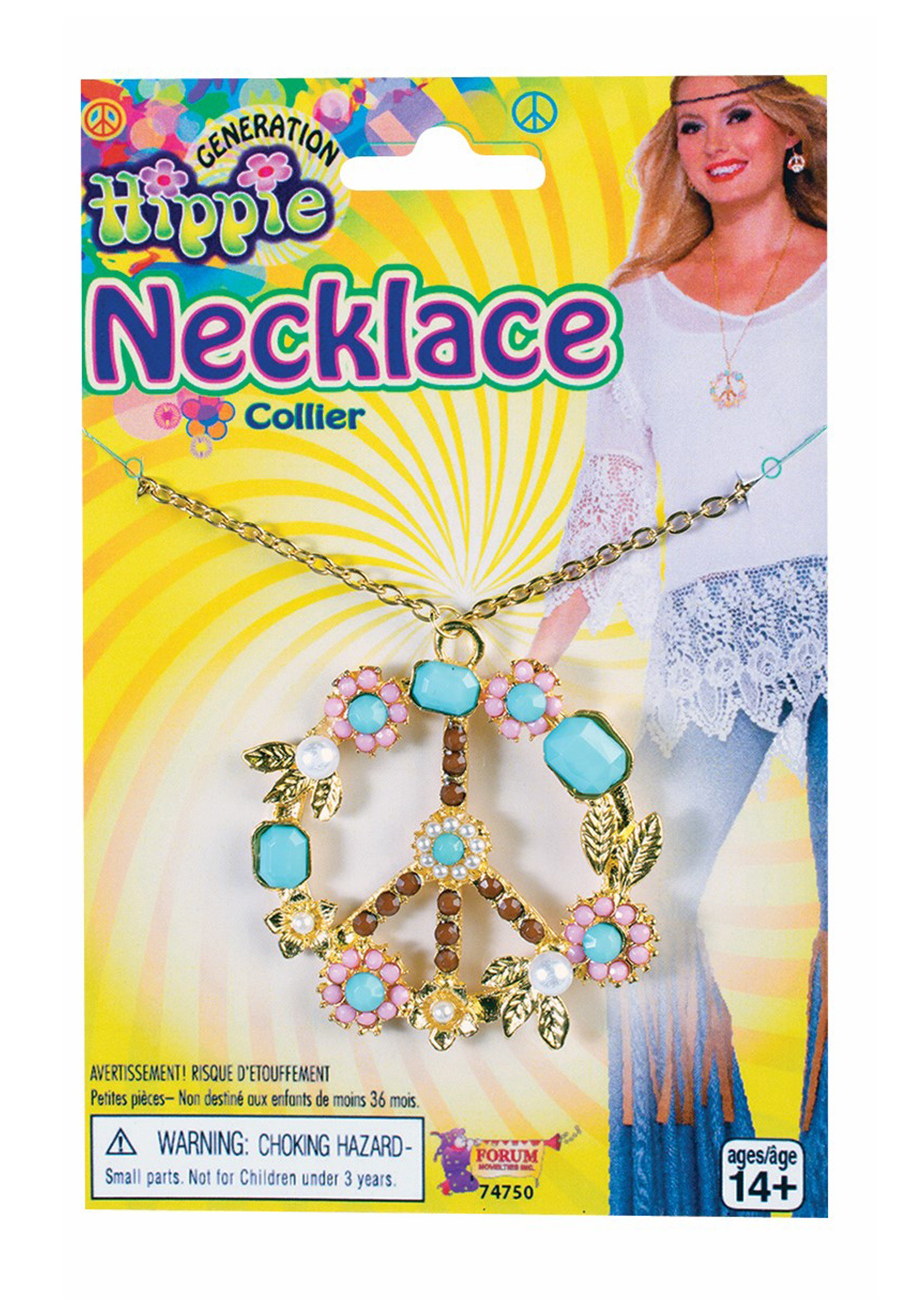 Deluxe Hippie Peace Sign Necklace