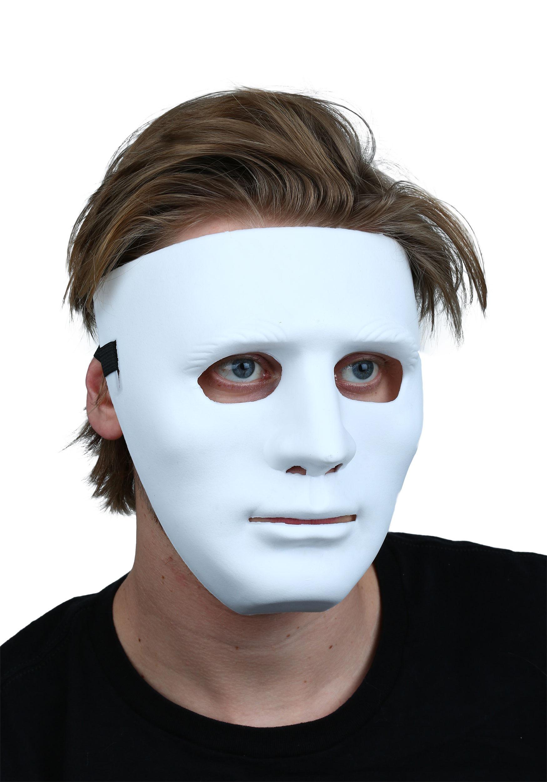 Deluxe White Blank Face Mask