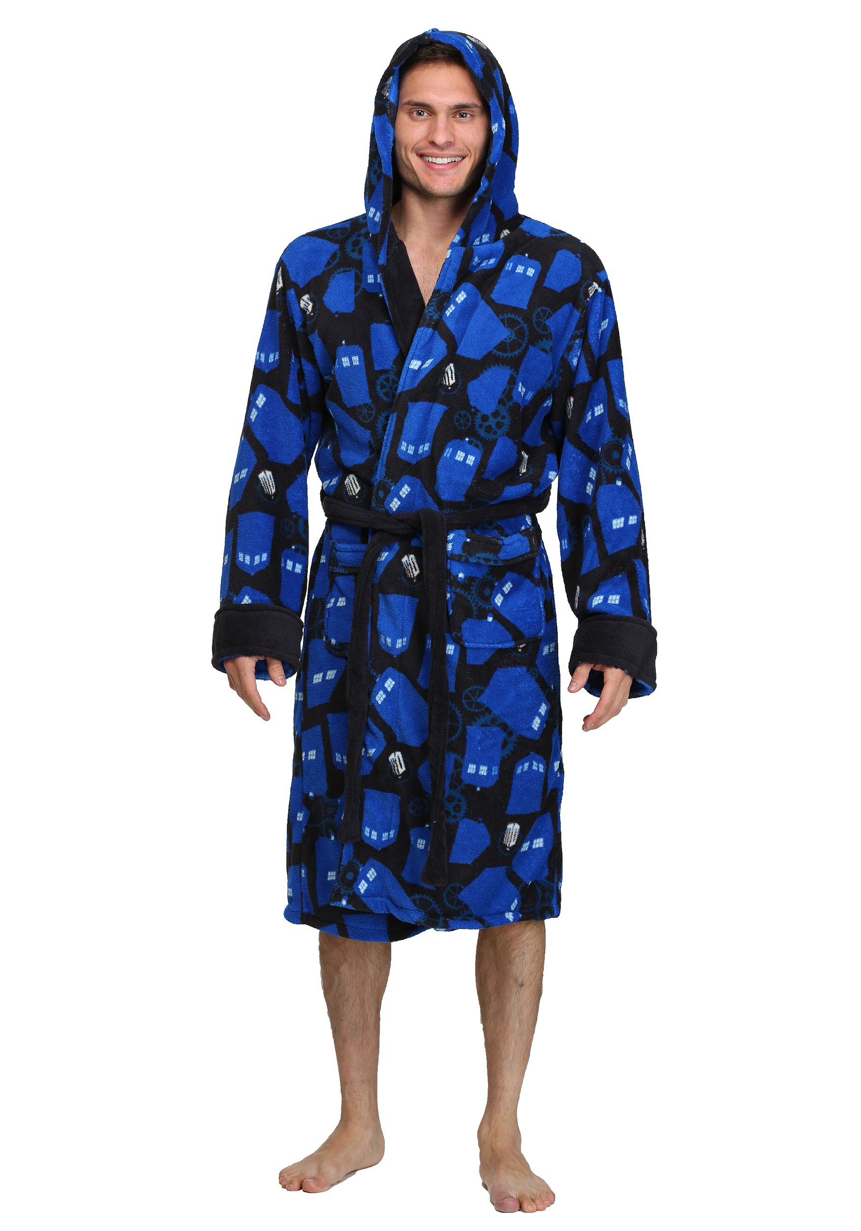 Doctor Who TARDIS and Gears Bathrobe