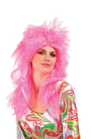Feathered Glam Wig - Pink