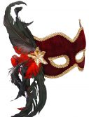 Female Masquerade Maroon Mask