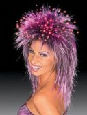 Fiber Optic Purple Wig