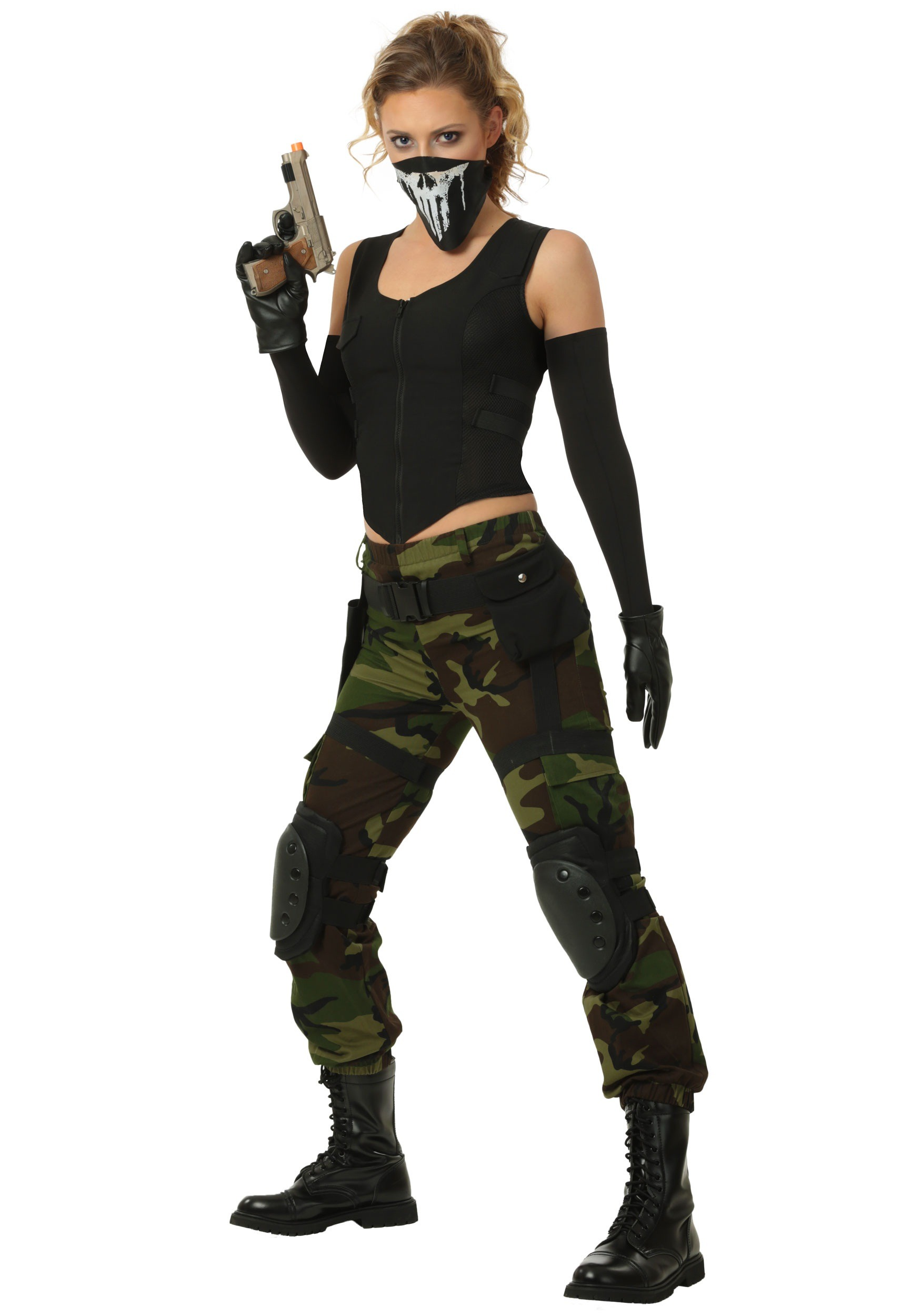 Fighting Soldier Womens Plus Size Costume