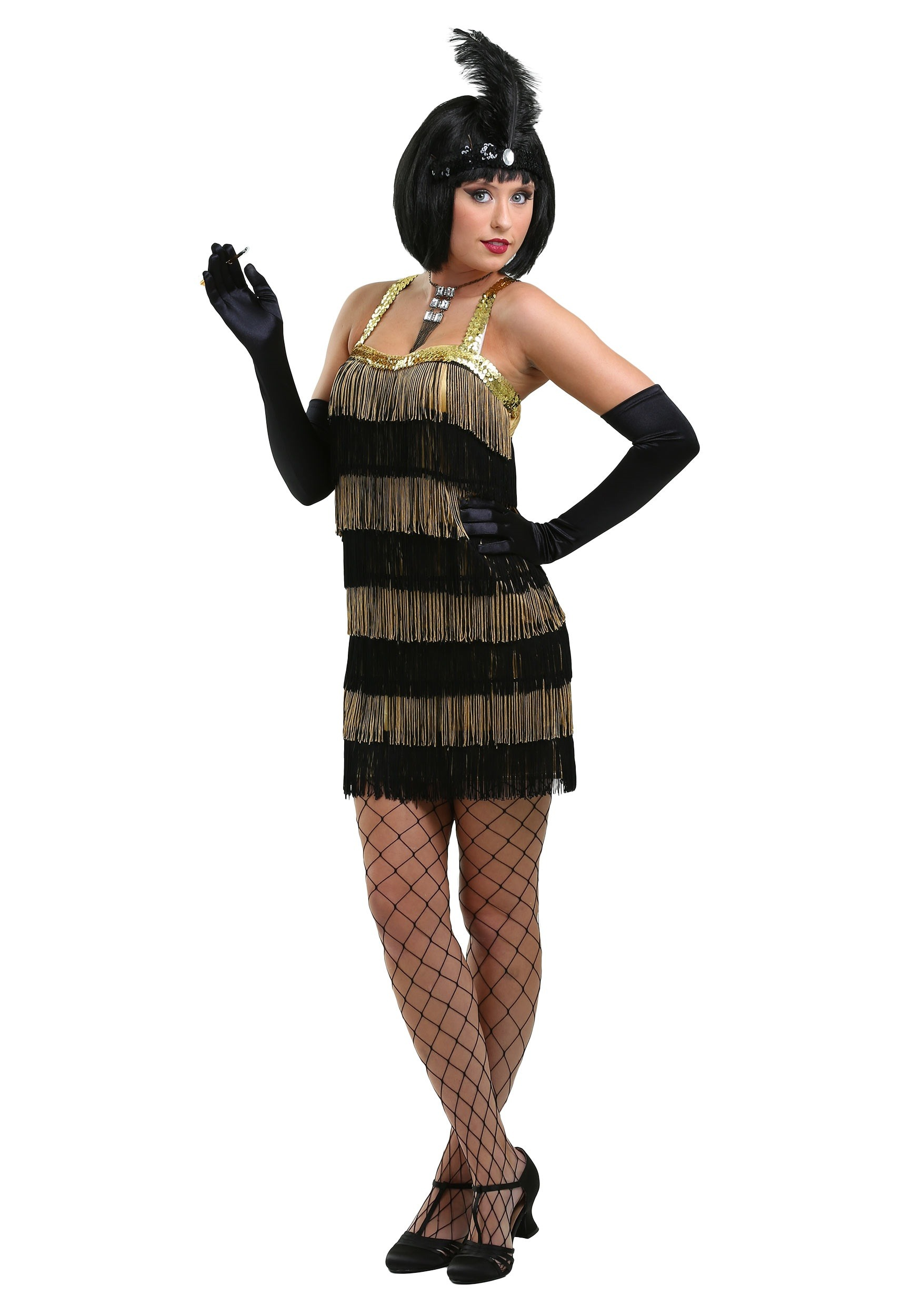 Fringed Gold Flapper Costume