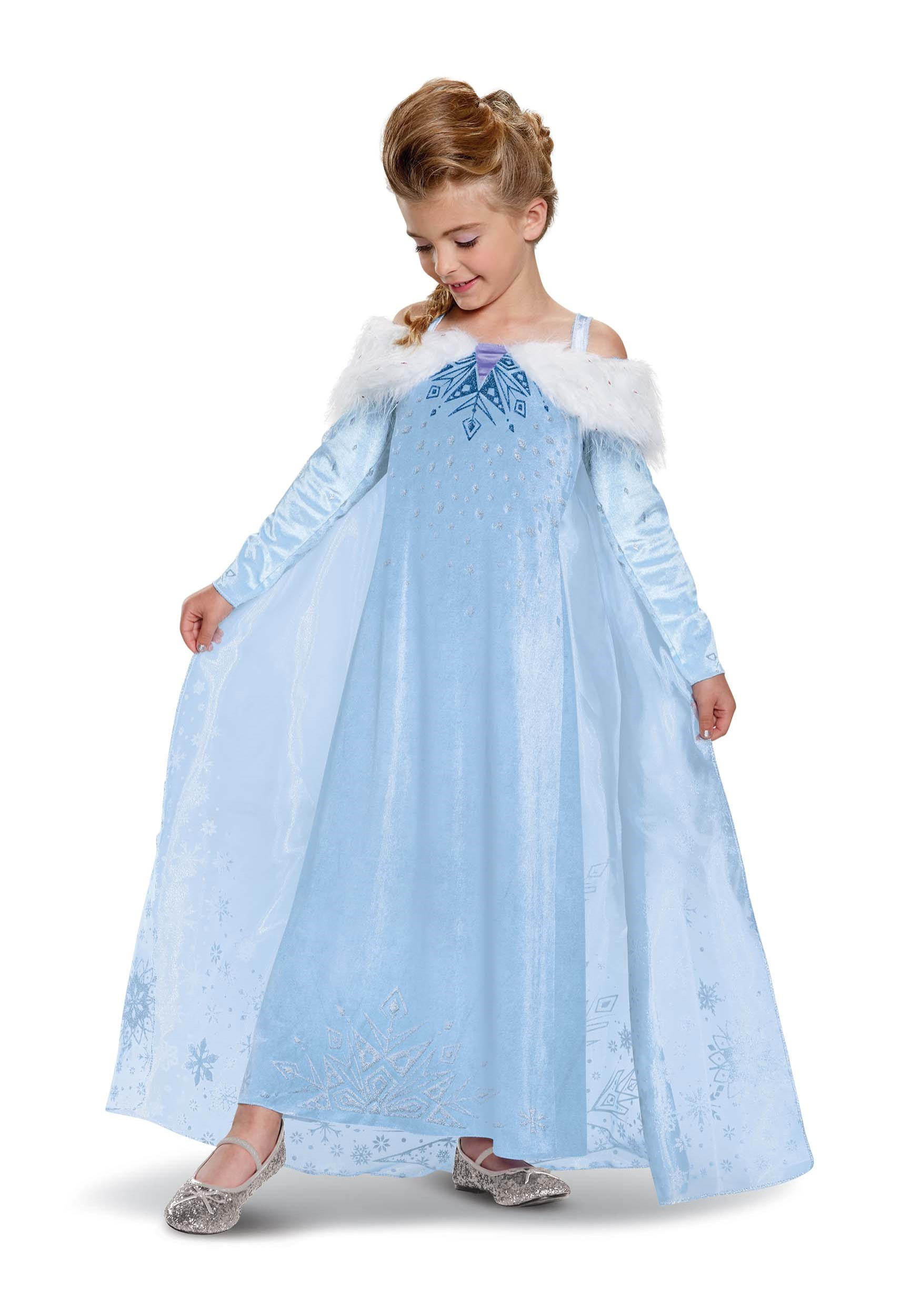Frozen Elsa Adventure Dress Deluxe Girls Costume