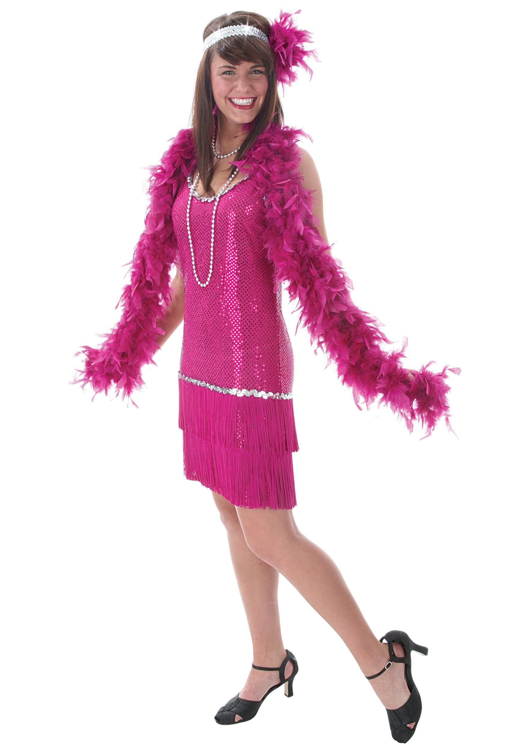 Fuchsia Flapper Dress