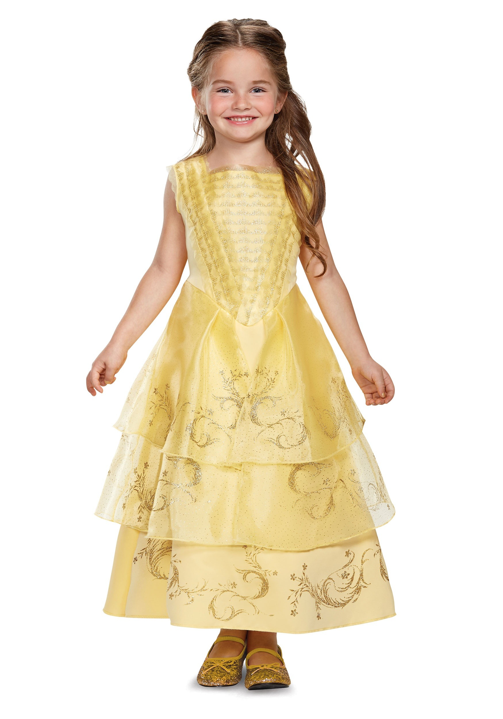 Girls Belle Ball Gown Deluxe Costume