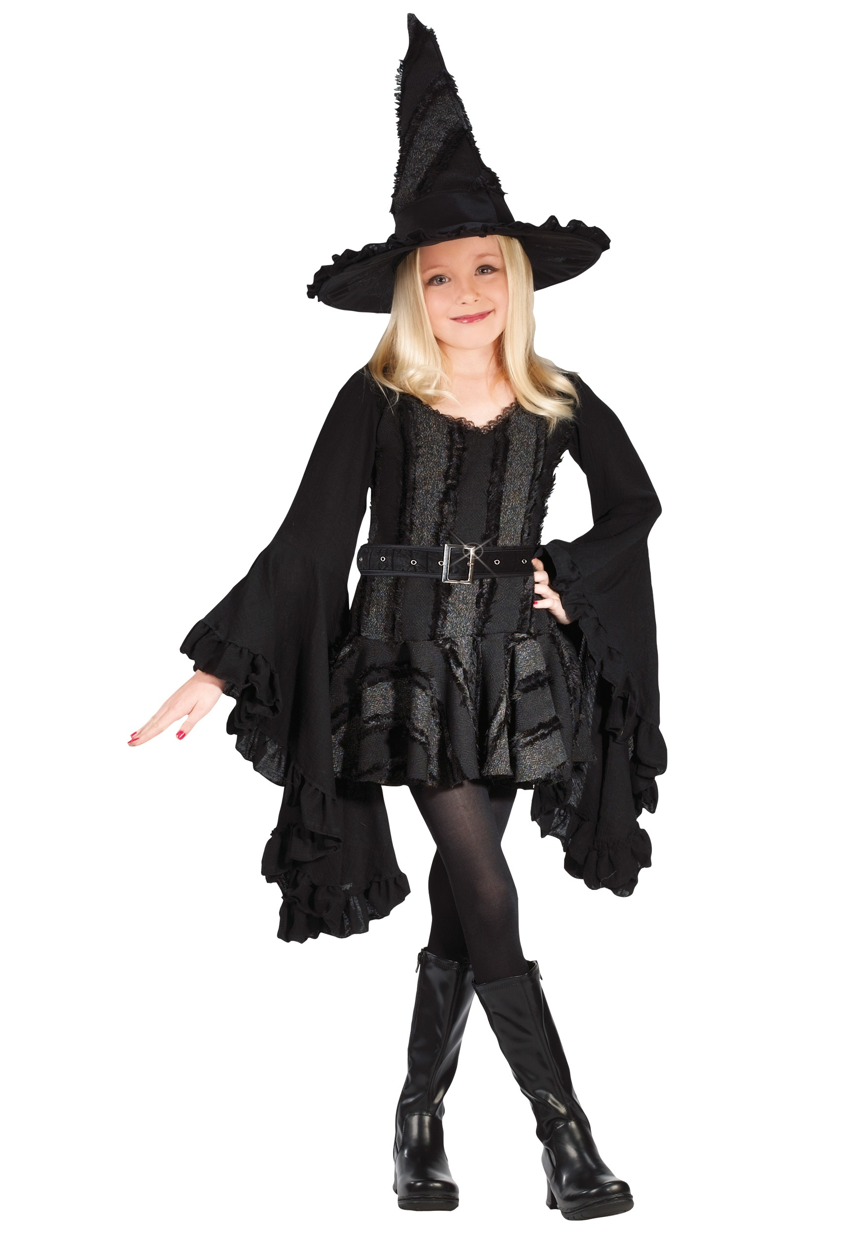 Girls Black Witch Costume