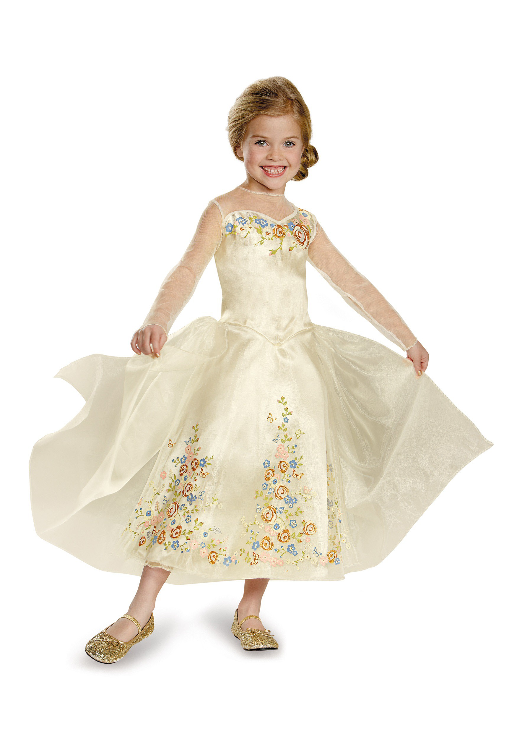 Girls Cinderella Movie Wedding Dress