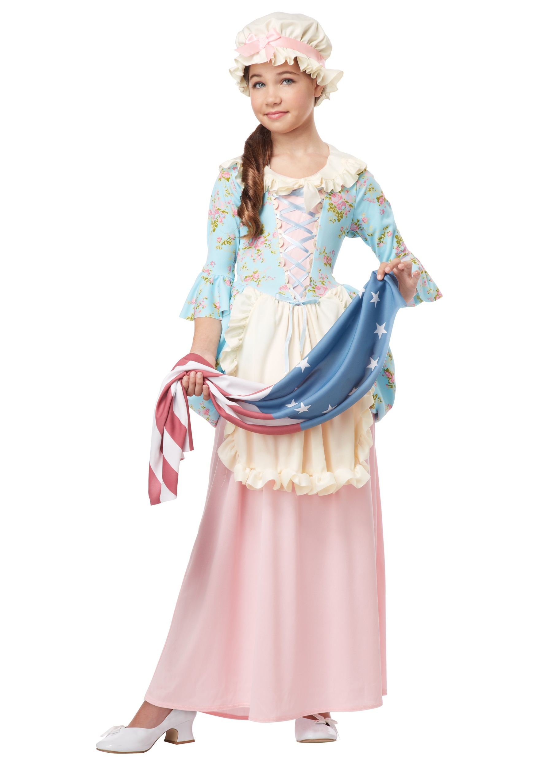 Girls Colonial Lady Costume