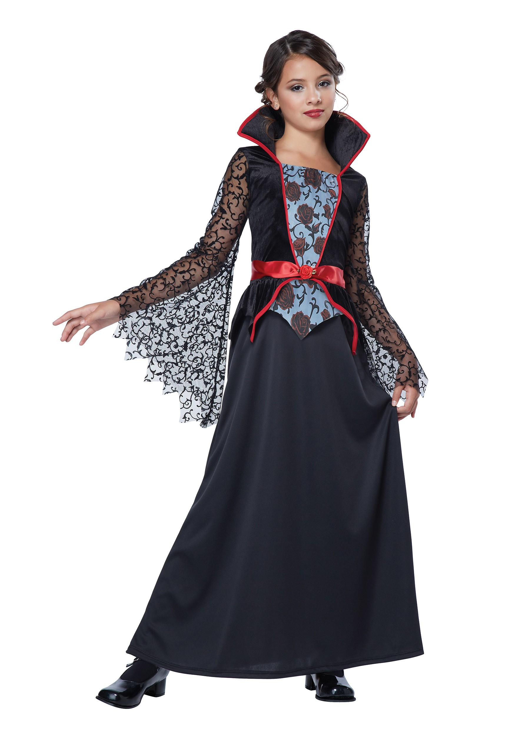 Girls Countess Bloodthorne Vampiress Costume