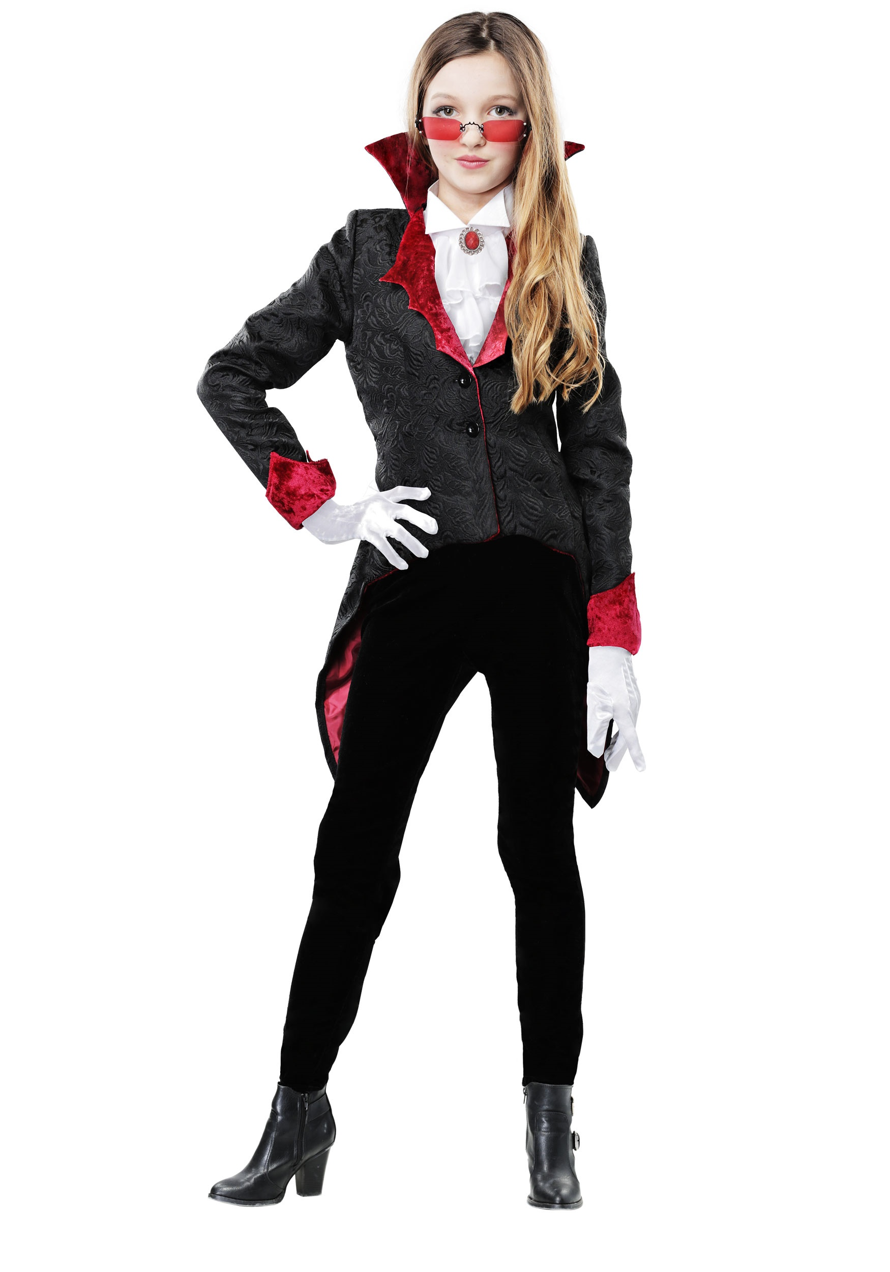 Girl's Dashing Vampiress Costume