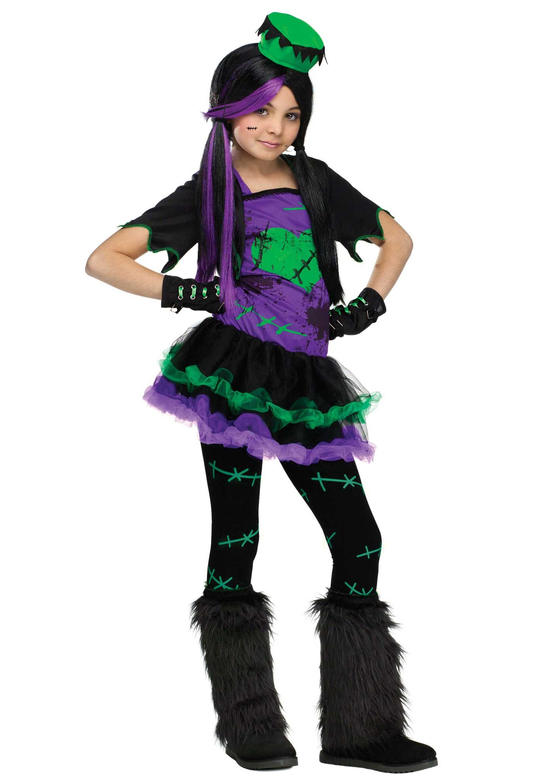 Girls Funky Frankie Costume