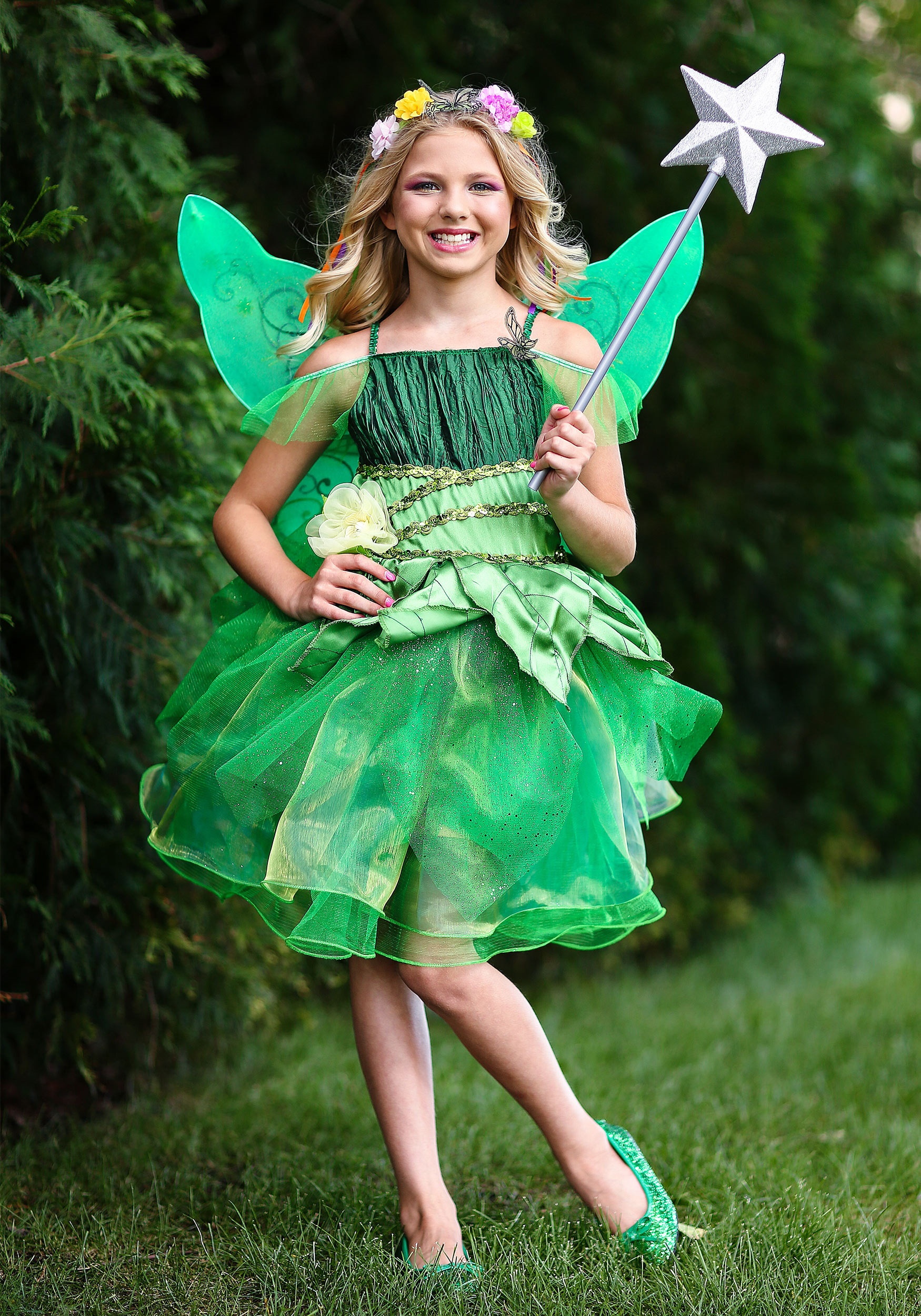 Girls Garden Fairy Costume
