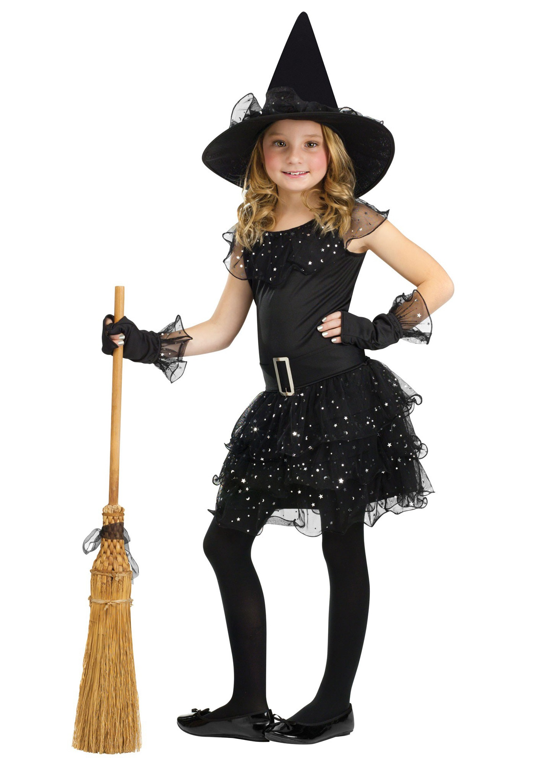 Girls Glitter Witch Costume