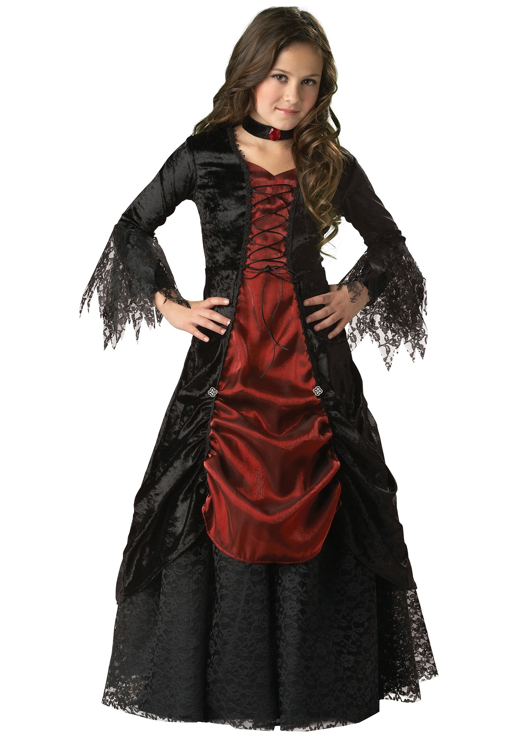 Girls Gothic Vampira Costume