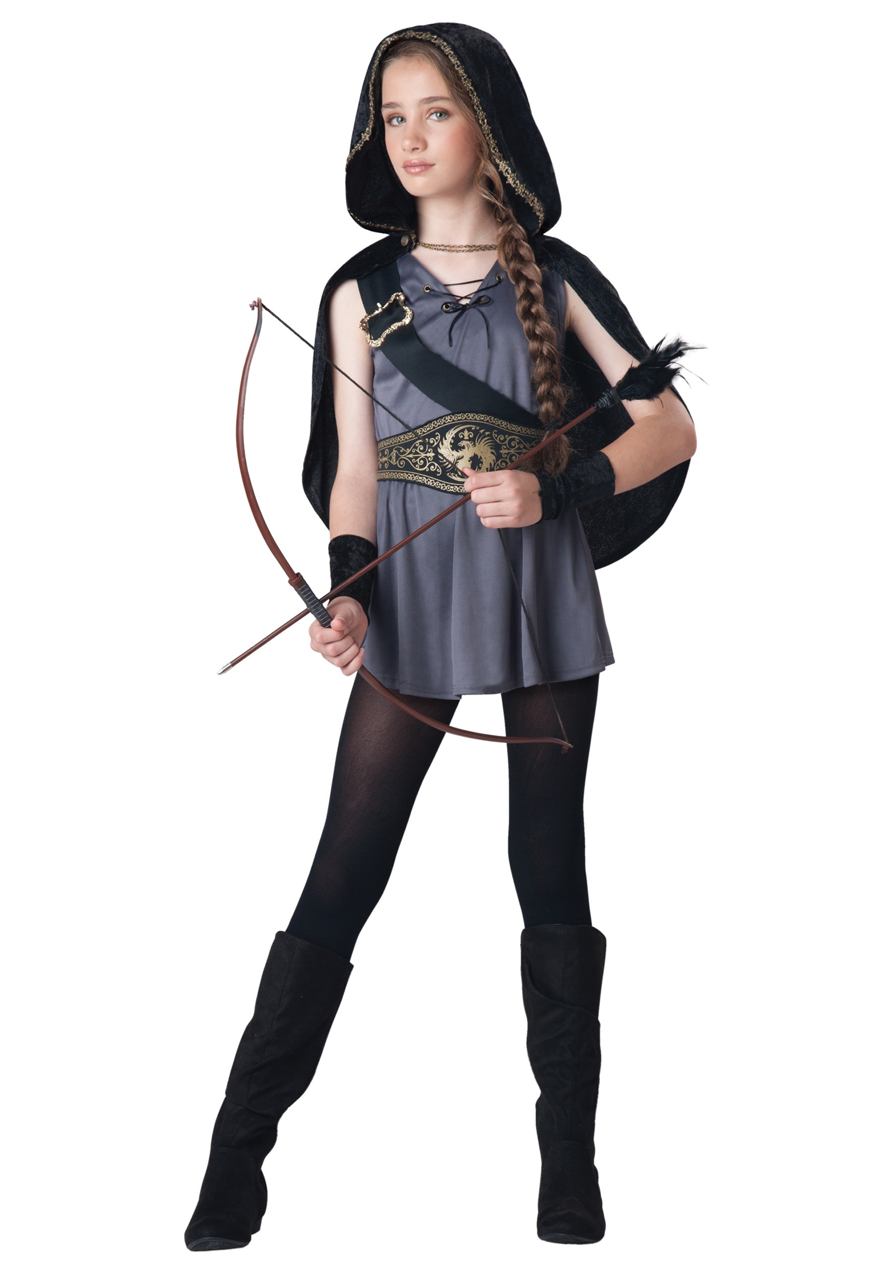Girls Hooded Huntress Costume