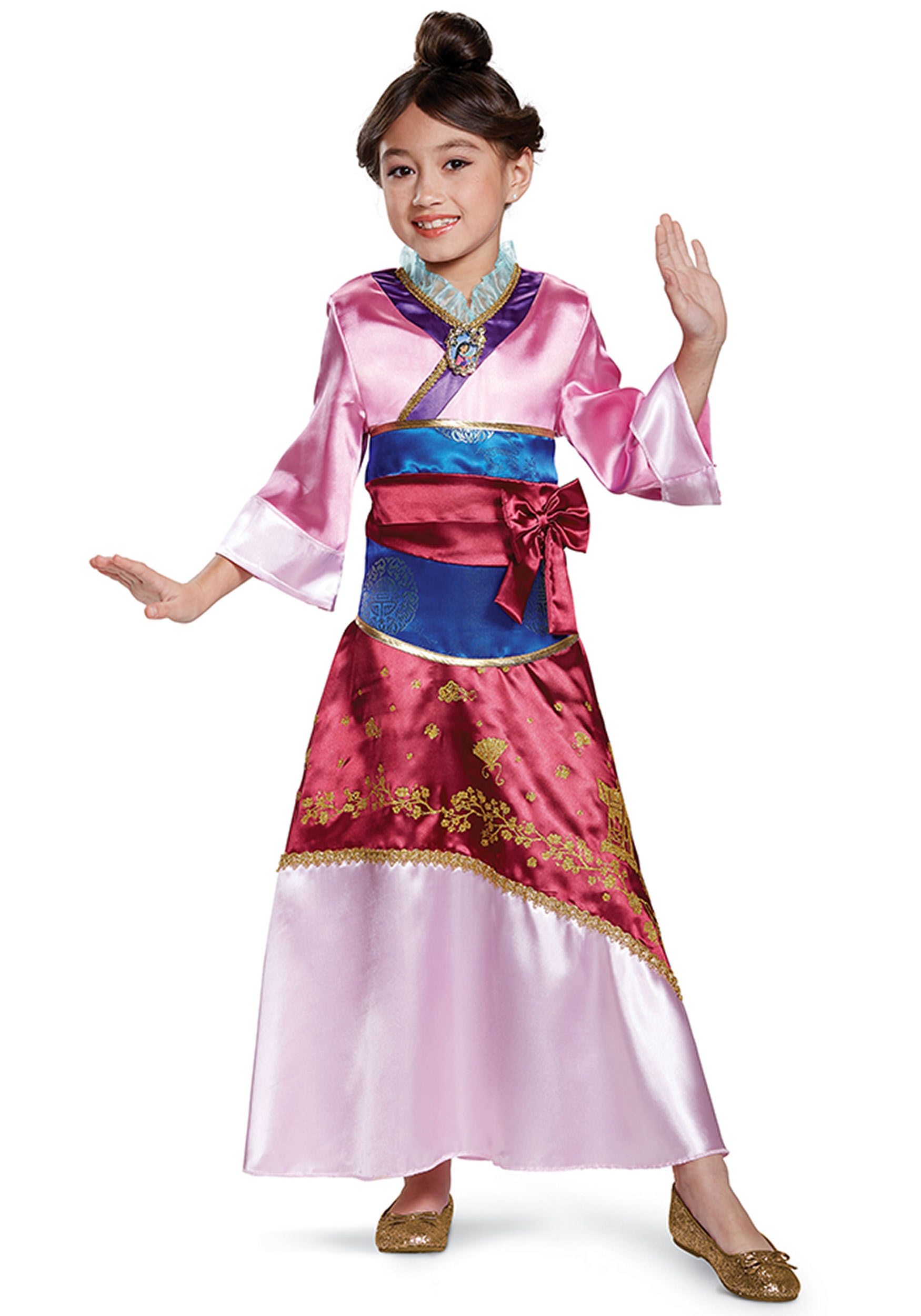 Girls Mulan Deluxe Costume