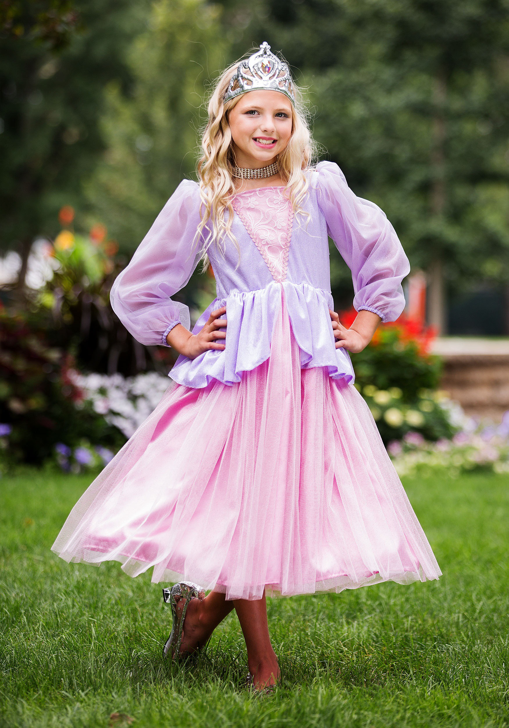 Girl's Pink and Lavender Princess Costume
