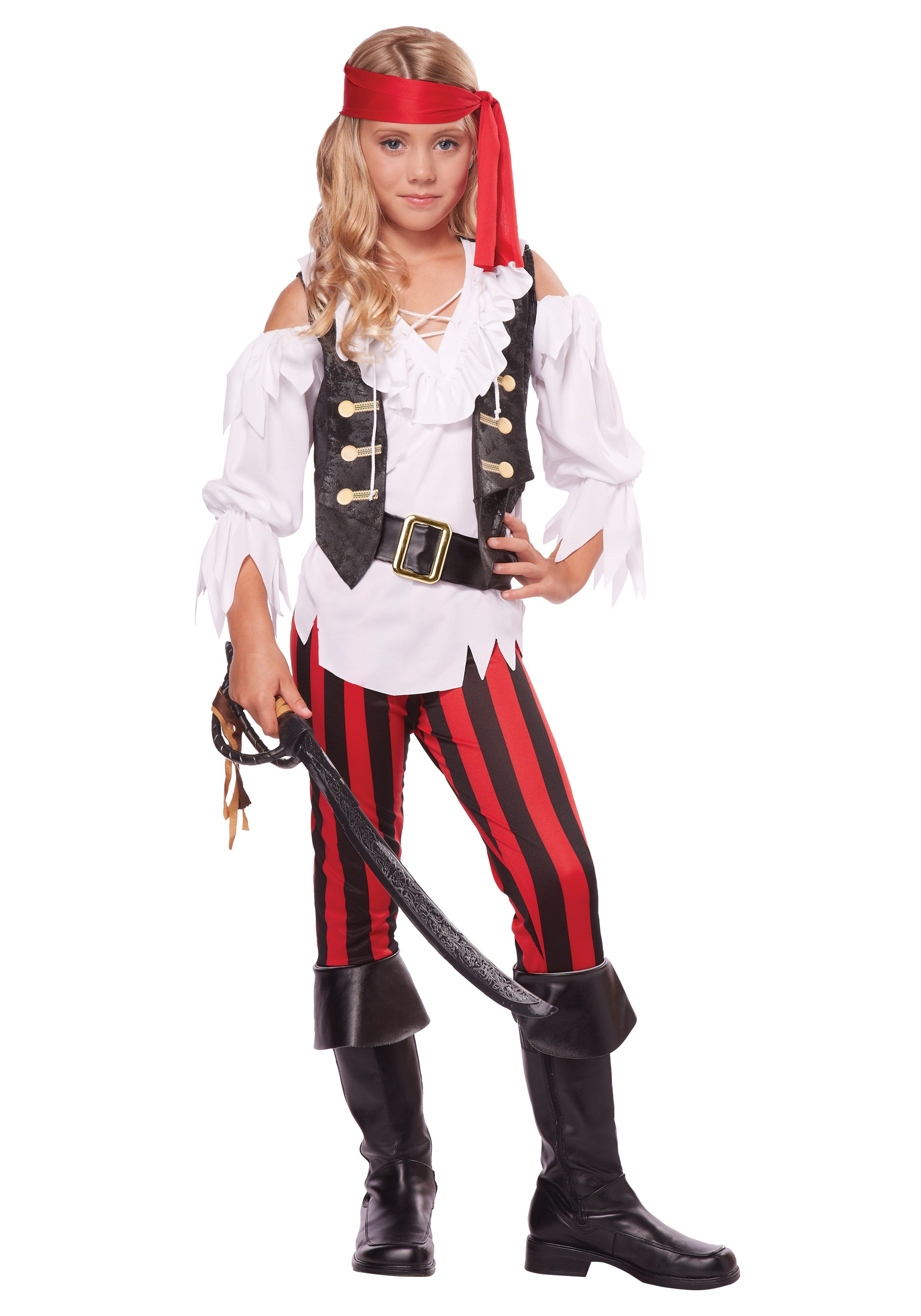 Girl's Posh Pirate Costume
