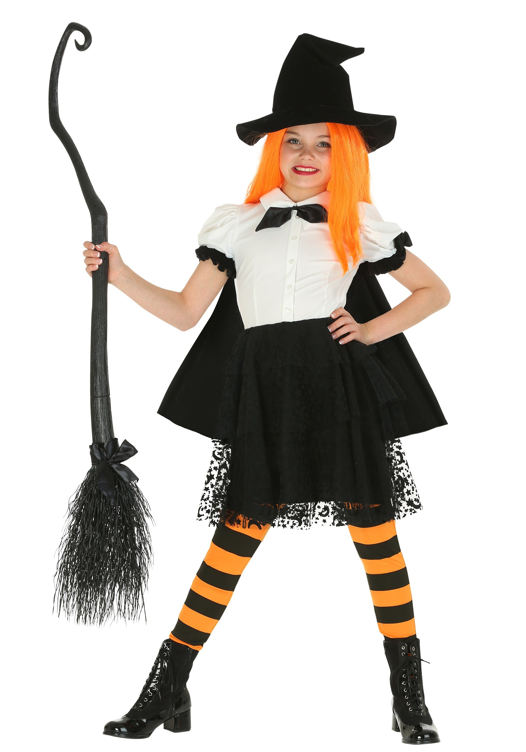 Girls Punky Witch Costume