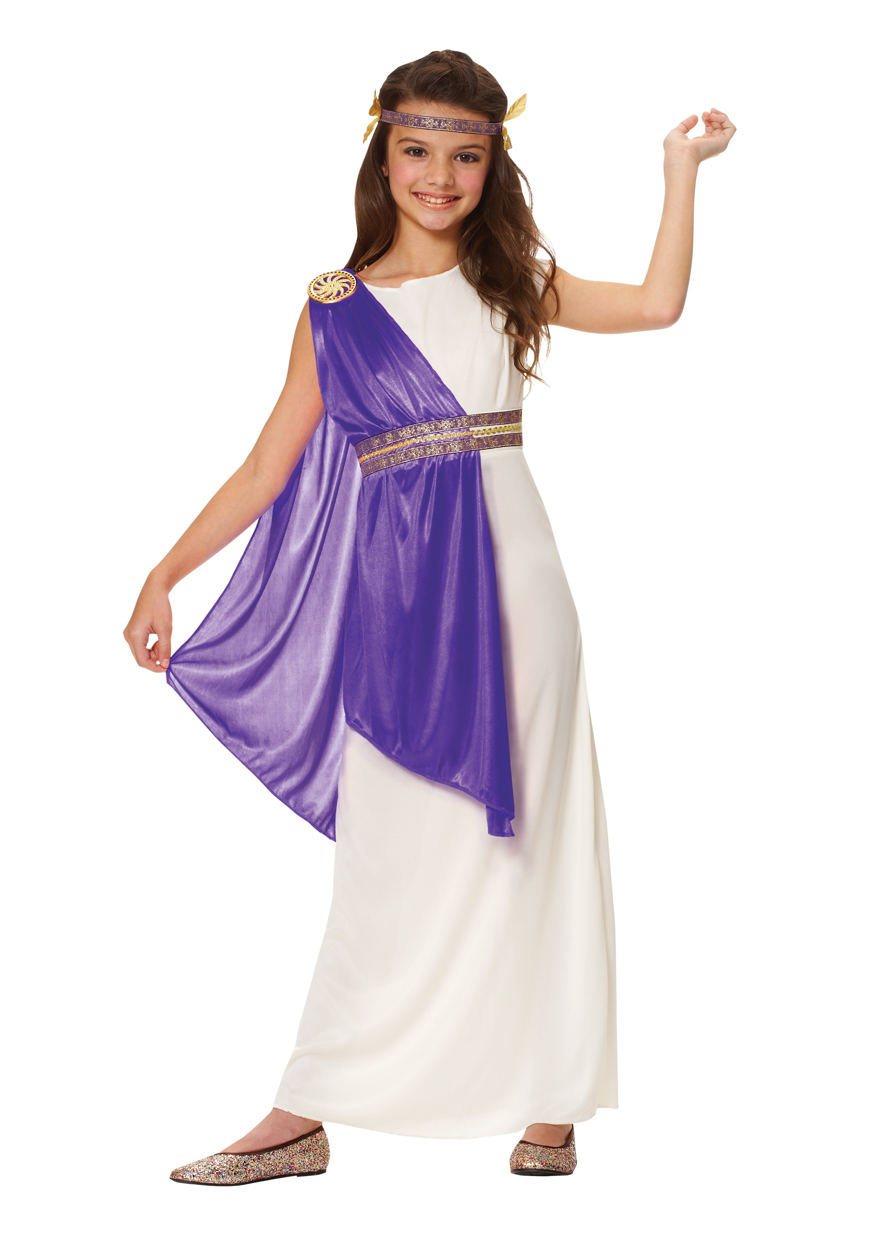 Girls Purple Roman Empress Costume
