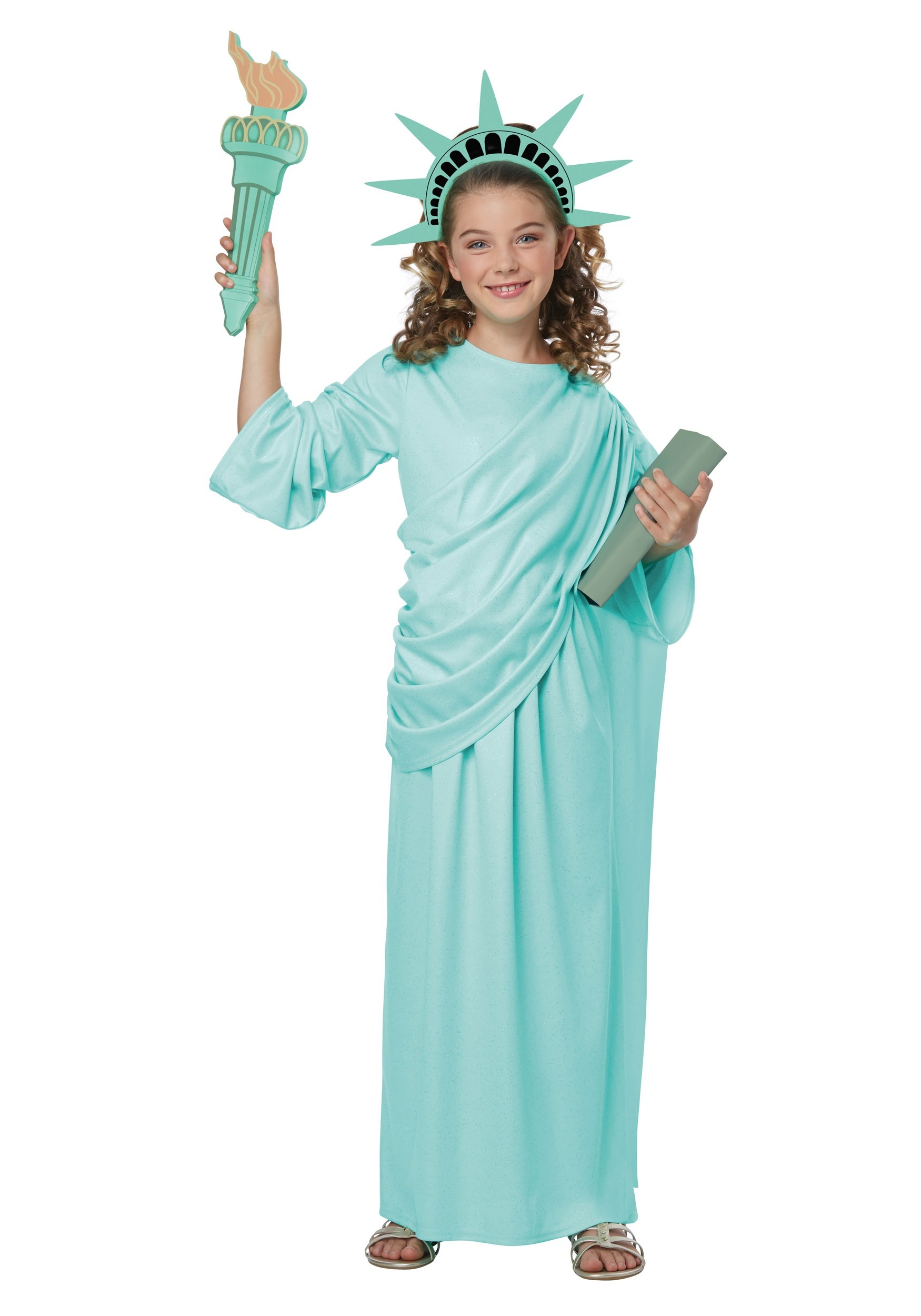 Girls Statue Of Liberty Costume
