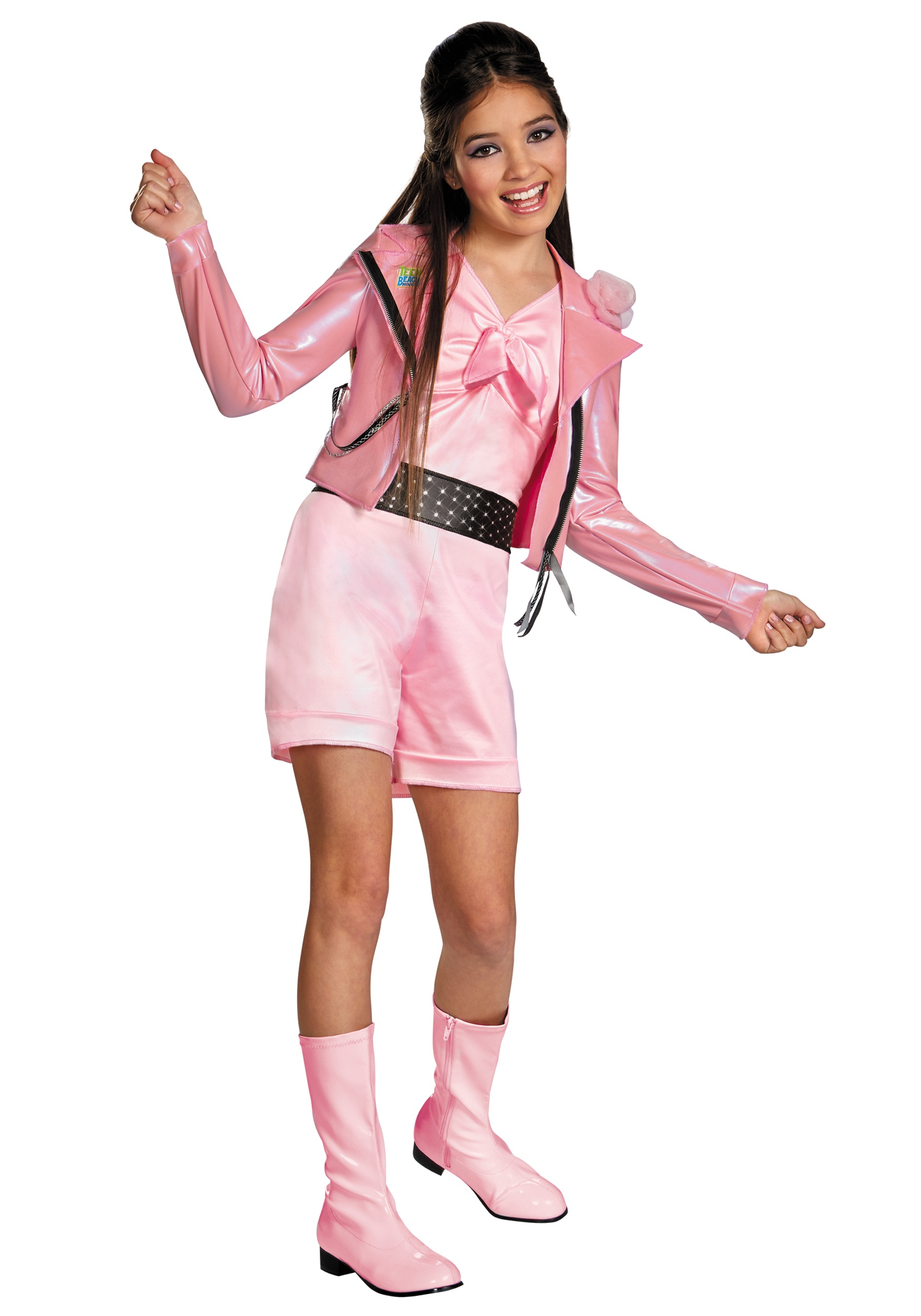 Girls Teen Beach Lela Biker Deluxe Costume