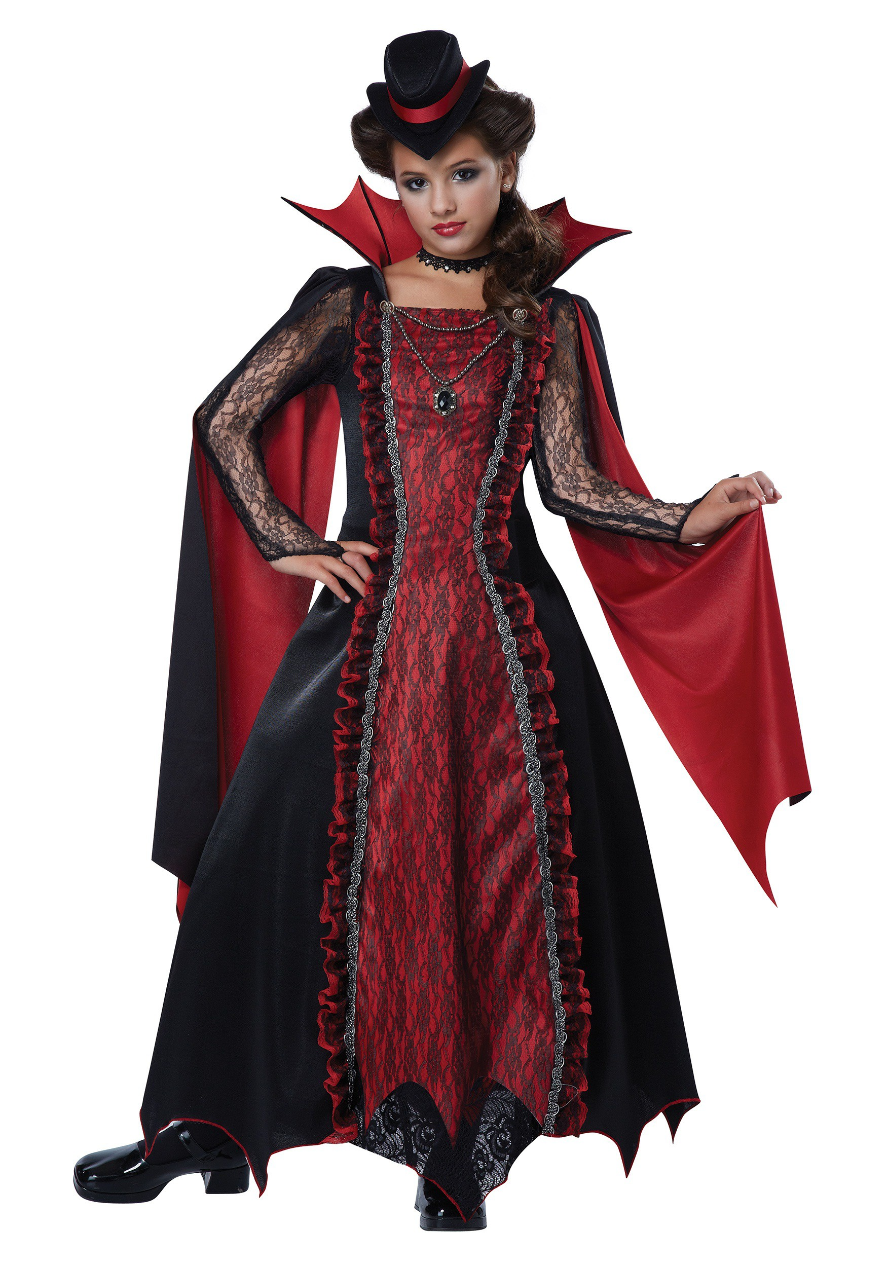 Girls Victorian Vampira Costume