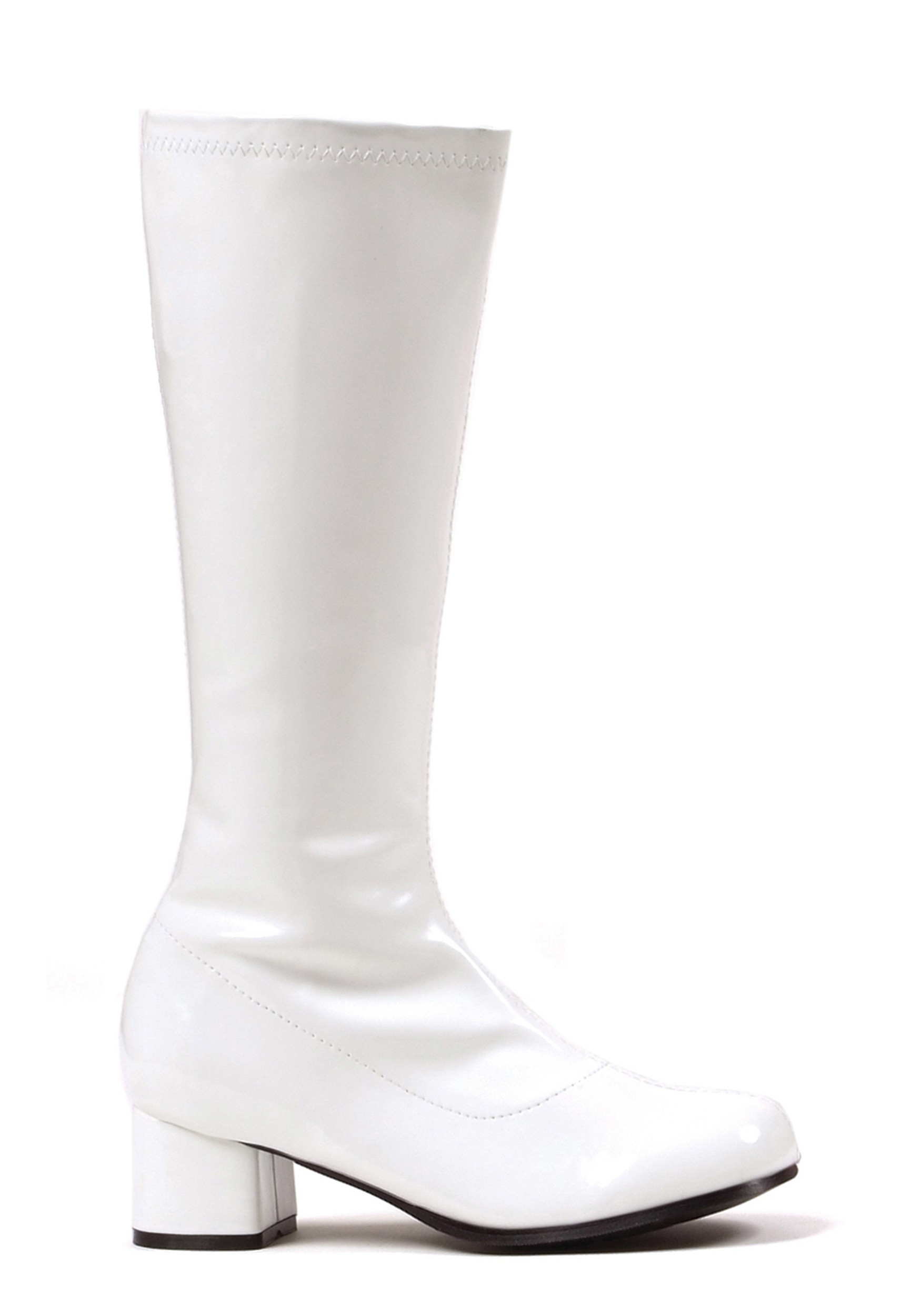 Girls White Go Go Boots