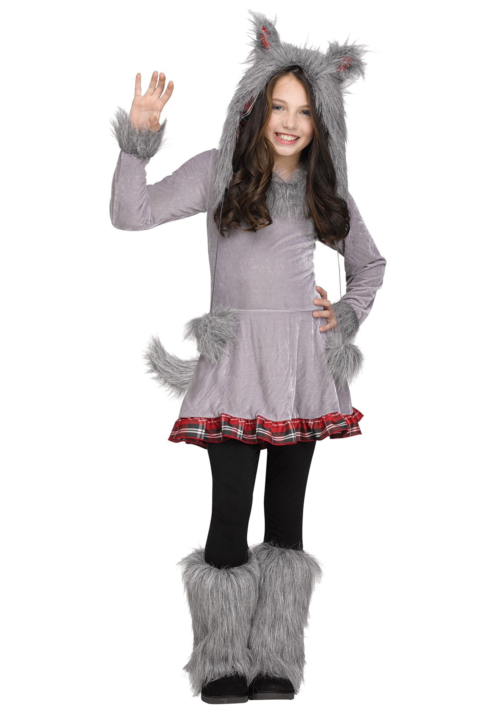 Girl's Wolf Cub Costume
