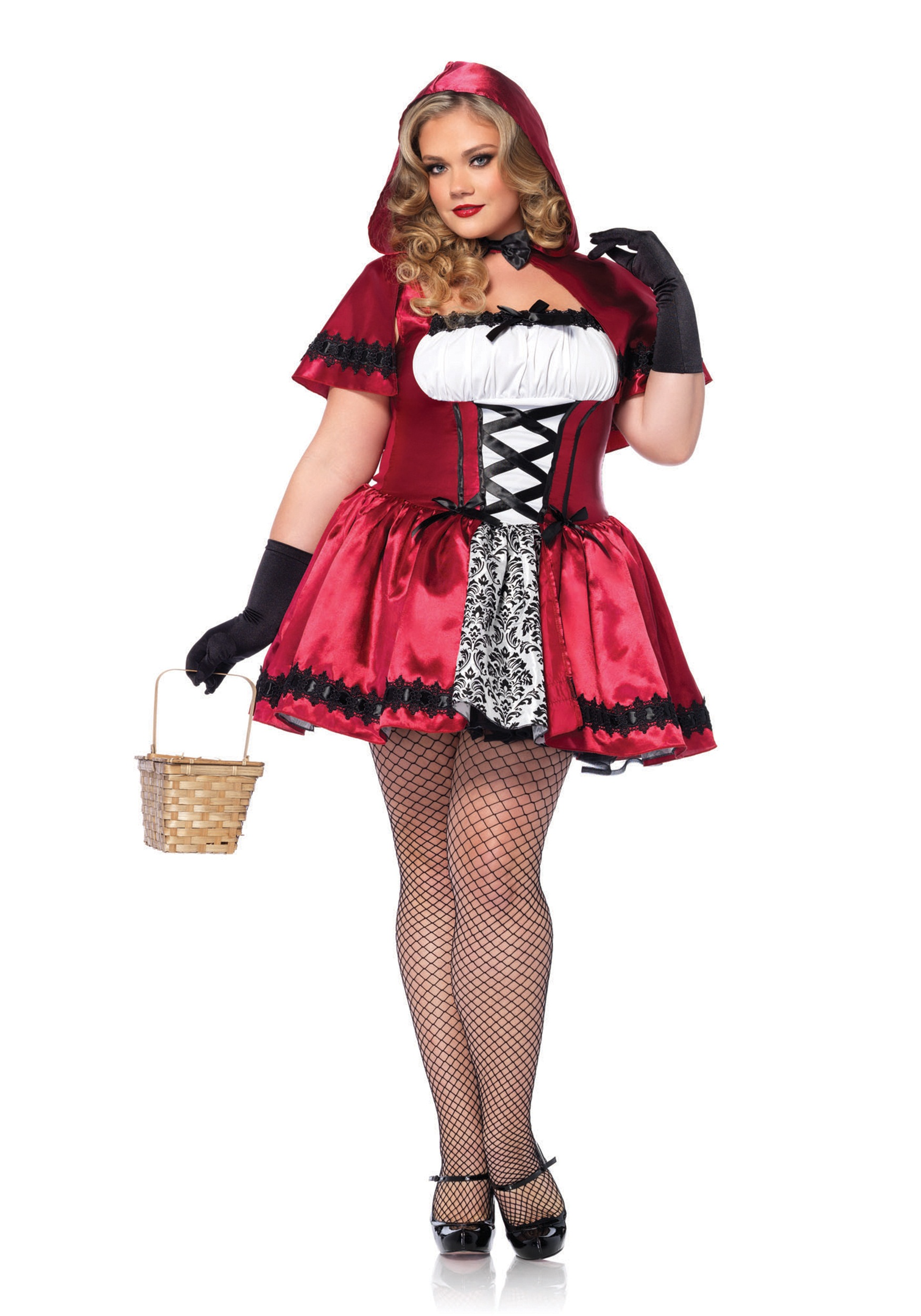 Gothic Red Riding Hood Plus Size Costume