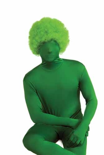 Green Afro Wig