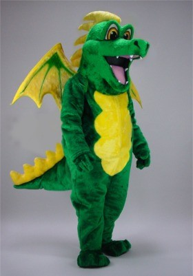 Green Dragon Mascot Costume
