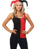 Harley Quinn Hooded Tank with Jester Horns