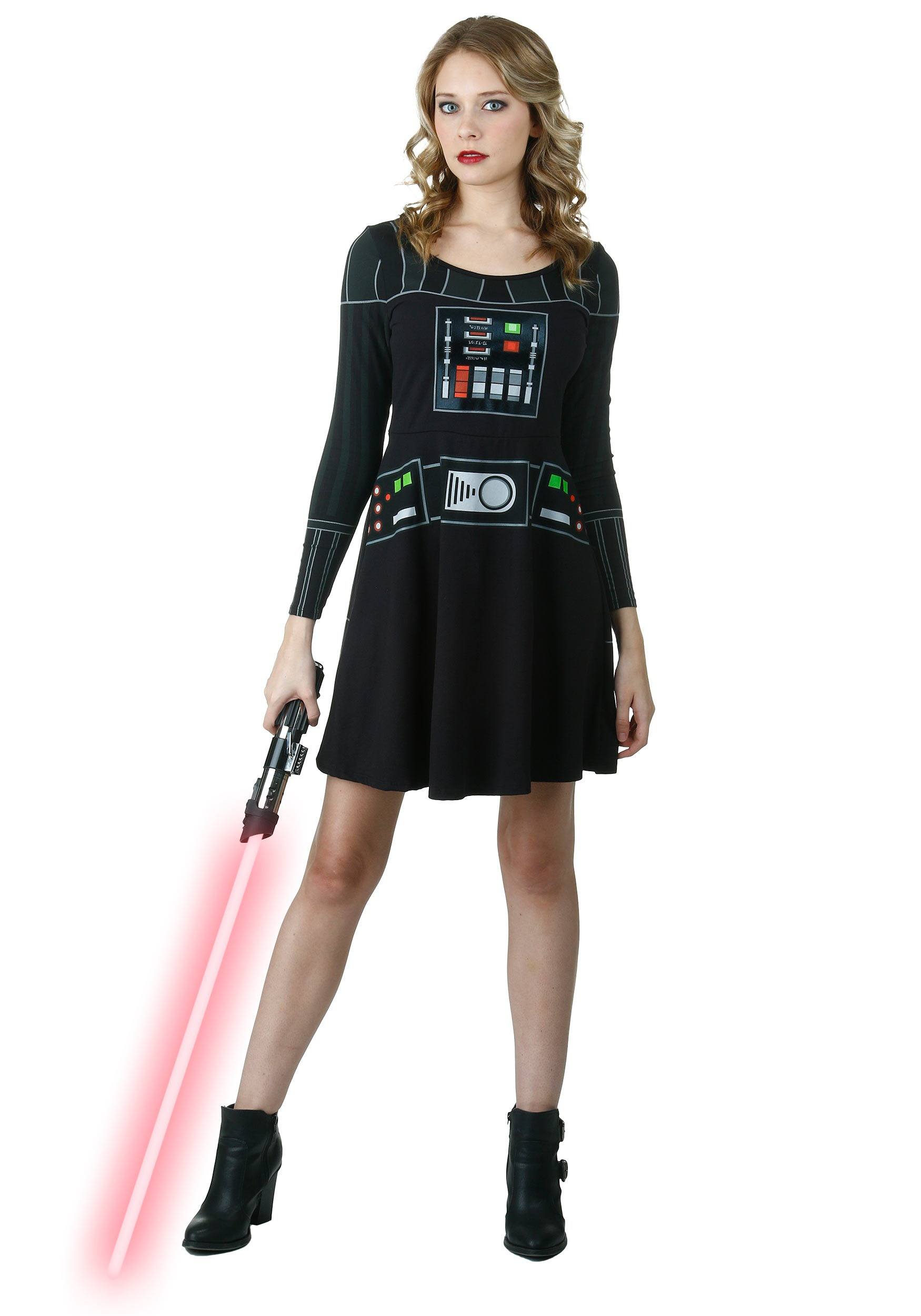 I am Vader Long Sleeve Skater Dress