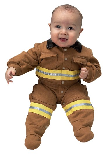 Infant Jr. Fire Fighter Suit (Tan)