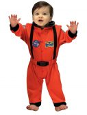 Infant Orange Astronaut Romper