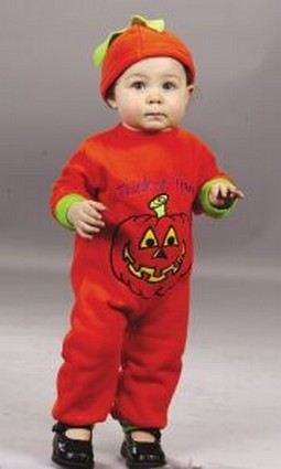 Infant Pumpkin Jumpsuit Costume