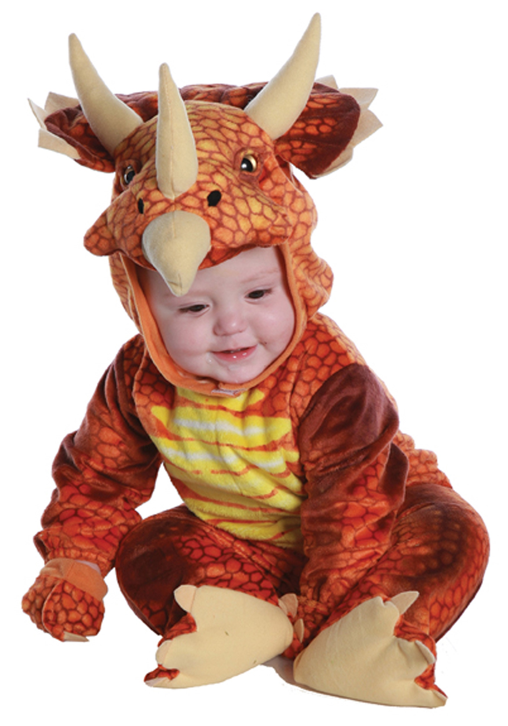 Infant/Toddler Rust Triceratops Costume