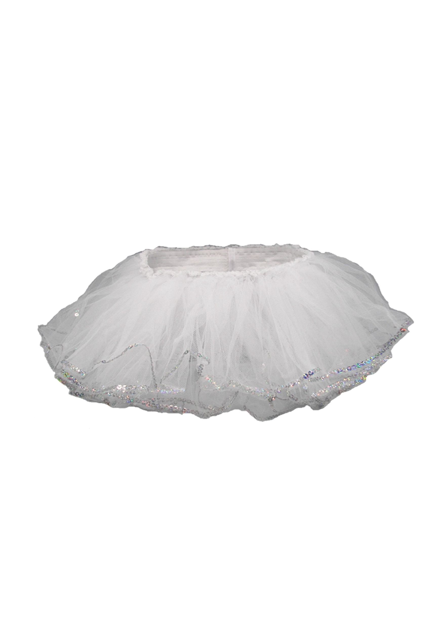 Infant/Toddler White Sequin Tutu