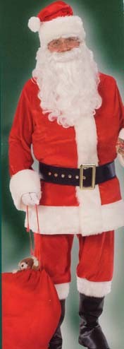 Irregular Santa Claus Costume Deluxe Velour Suit - HALF OFF