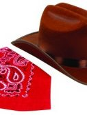 Jr Cowboy Hat and Bandana - Brown