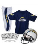 Kids Chargers NFL Deluxe Helmet/Uniform Set